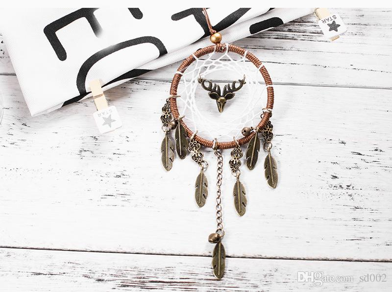 fahion Dream Catcher Creative Antique Alloy Feather Dreamcatcher Wall Hanging Craft Gift New 7 6xr C