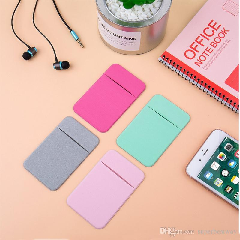 c1395f0c8a74 Credit Card Secure Holder Stick on Wallet [ Lid ] Discreet ID Lycra Spandex  Cards Sleeves 3M Adhesive Gadget For phone Case STY112