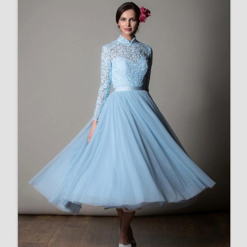 Vintage Beach Wedding Dresses 2018 Hot Robe De Mariage Simple Tea ...