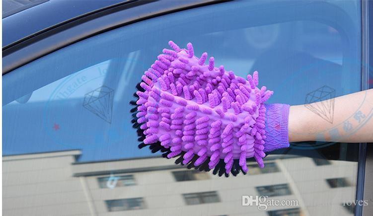 10 batch, high density fiber microfiber chenille wash mitt mitts towel clean gloves