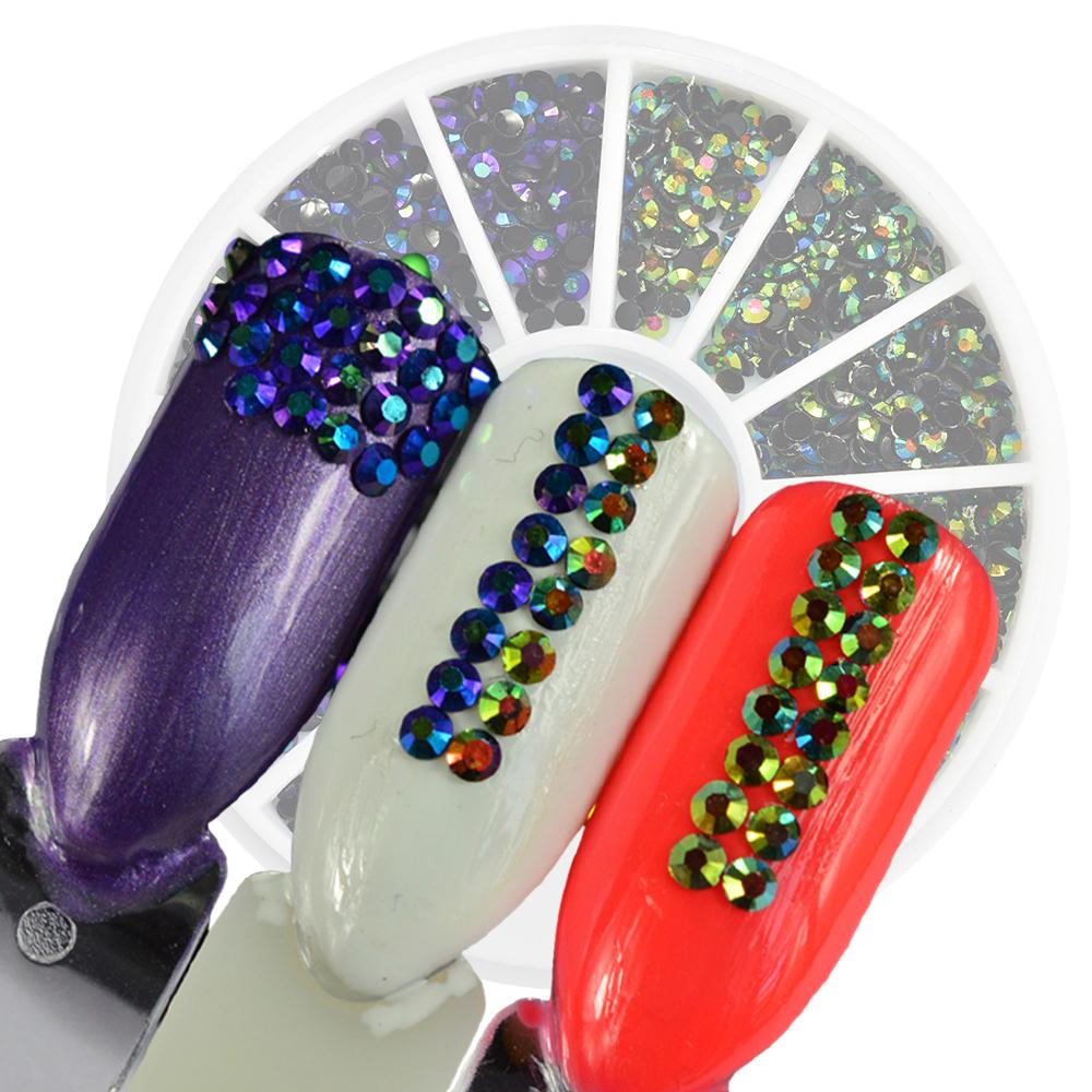 Ail Art Charms 1 Wheels 2mm Jelly Resin Rhinestones Diy Beads Charm