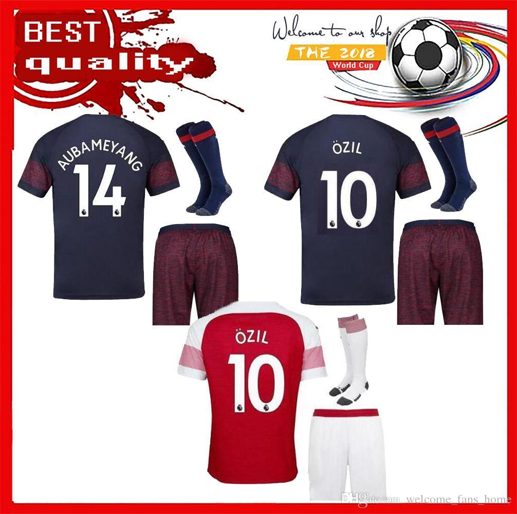 18 19 Arsenal Soccer Jerseys ADULT KIT Home SHORTS SOCKS 2018 2019 ... a203bc2f9