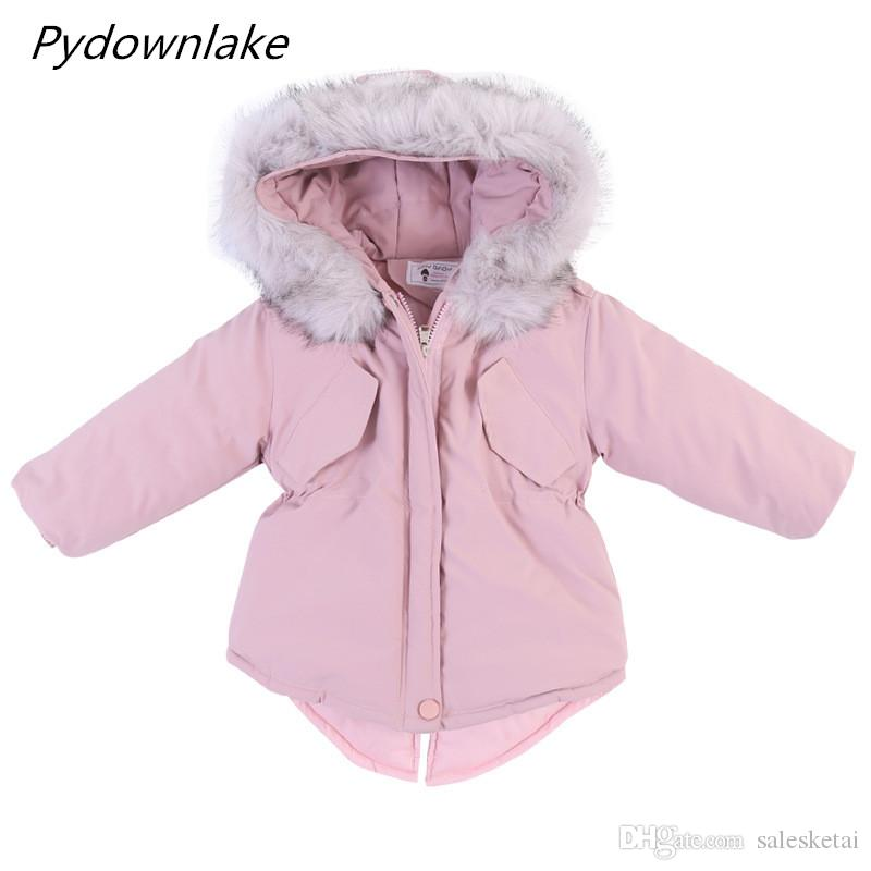 950c6631a Pydownlake Toddler Girls Cotton Padded Coats 2018 Winter Children ...