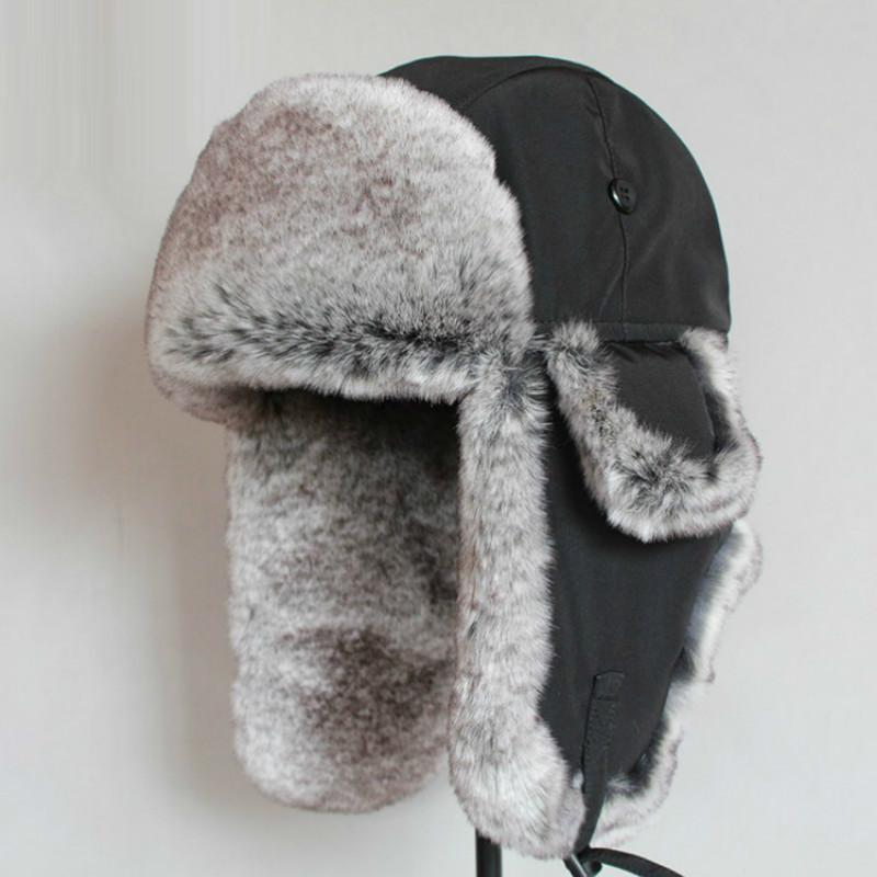 Bomber Hat Rex Rabbit Fur Trapper Hats Thick Warm Winter Snow Caps Russian Mens  Fur Hat Ear Flap Caps Waterproof Cap B 8484 C18110801 UK 2019 From  Xiao0003 7f8fd1953bf