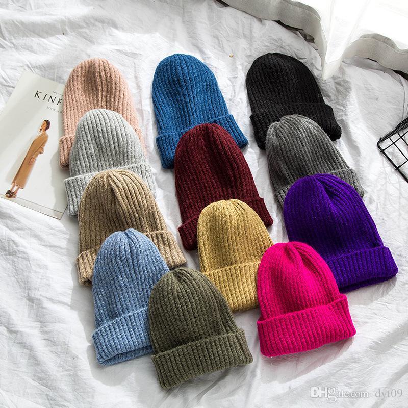 76c17fa44dc 2018 Autumn And Winter Warm Wool Cap Men And Women Wild Korean ...