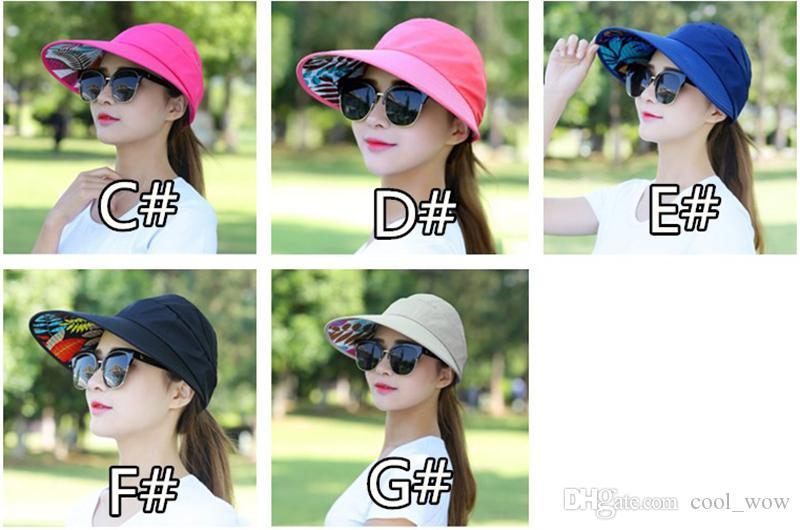 Sun Hat Topee Cap Anti UV Light Cap Wide Brim Hats Foldable Anti Sun Caps Waterproof Baseball Hat for Woman Sunmer with Hole