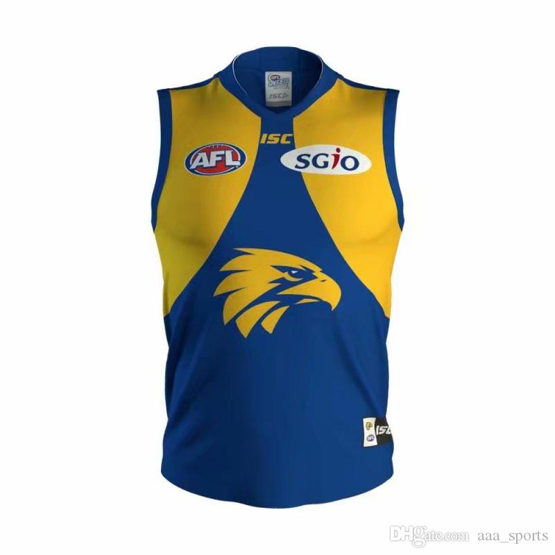 311e1b78f 2019 DHL West Coast Eagles 2018 AFL Jersey Singlet Vest ISC PREMIERSHIP GUERNSEY  Rugby Jerseys League Jersey Leisure Sports Shirt From Aaa sports