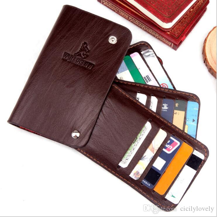 new arrival fcd37 36612 New Hot Men's Wallet MB Deluxe Card Case Folding Black Short Credit Card  Holder MT Pocket High Quality Wallet