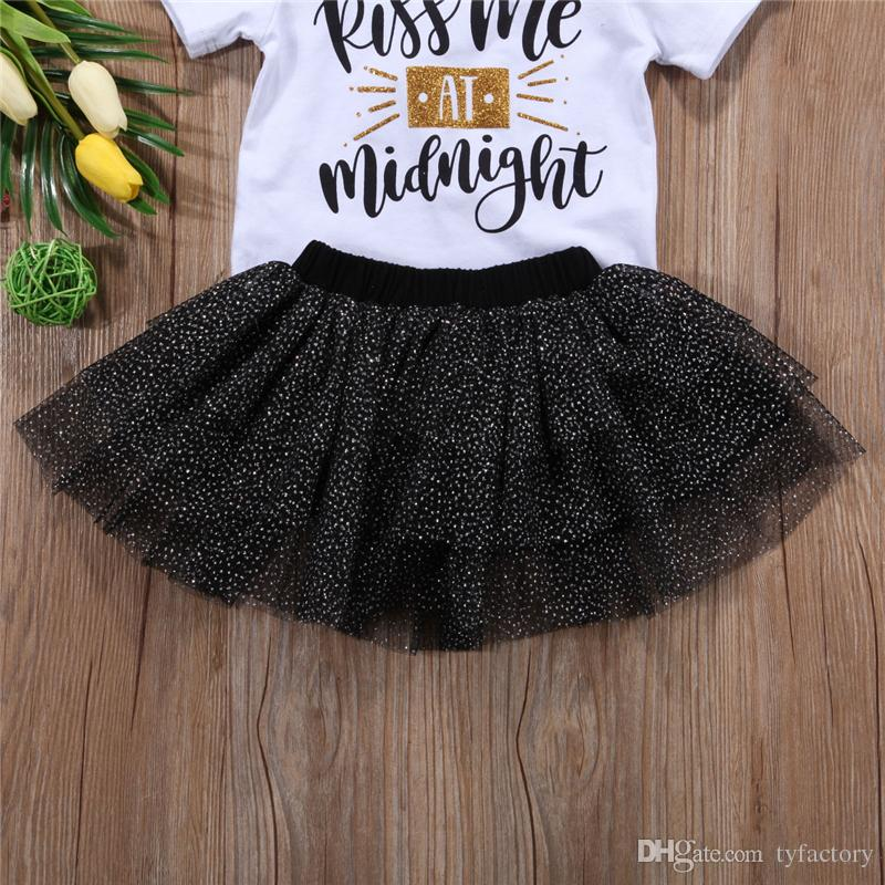 New Baby Girl Princess Tutu Dress Boutique girls set T-shirt+Skirt+Headband Outfit Baby Girl Clothes Lovely Kids Clothing