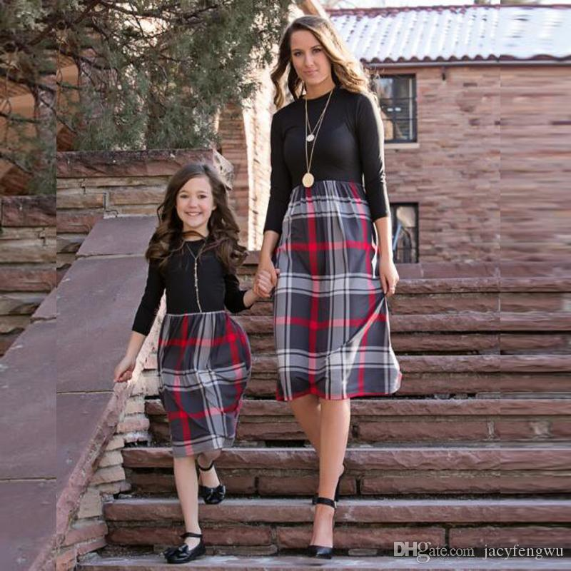 660162f26c9a Christmas Mother And Daughter Clothes Family Matching Clothing Student Dress  Girls Skirt Women Ladies Outfit Plus Size 4XL Fat Girl QZZW097 Odd Family  ...