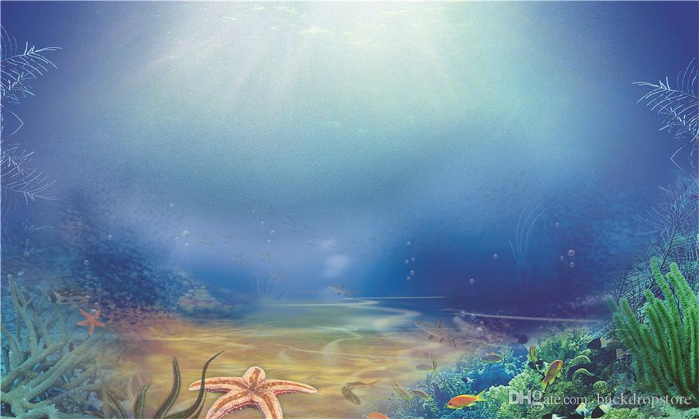2018 under the sea photography backdrops printed sunshine through