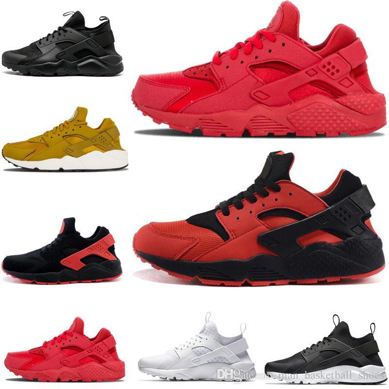 newest 5af89 f15bd Acheter Nike Air Huarache Nouveau 2018 Huarache Huaraches Arc En Ciel Ultra  Respirant Chaussures Hommes Femmes Huaraches Multicolore Sneakers Sport De  Plein ...
