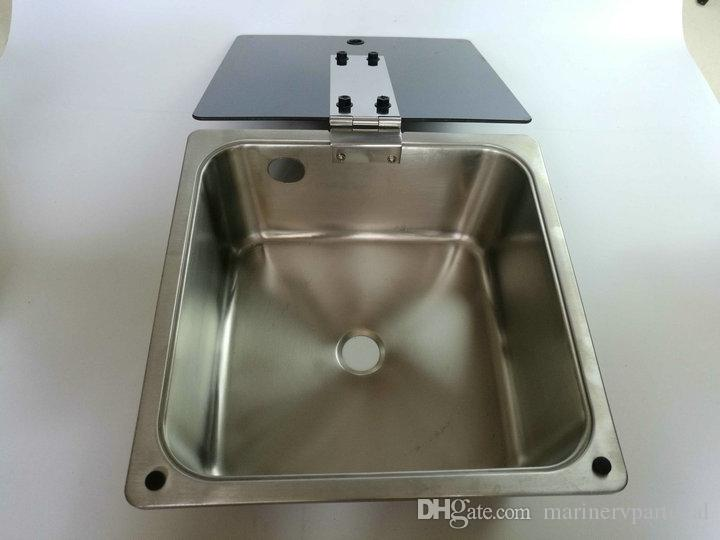 Rv Caravan Camper Boat Ss Hand Wash Basin Kitchen Sink With Glass ...