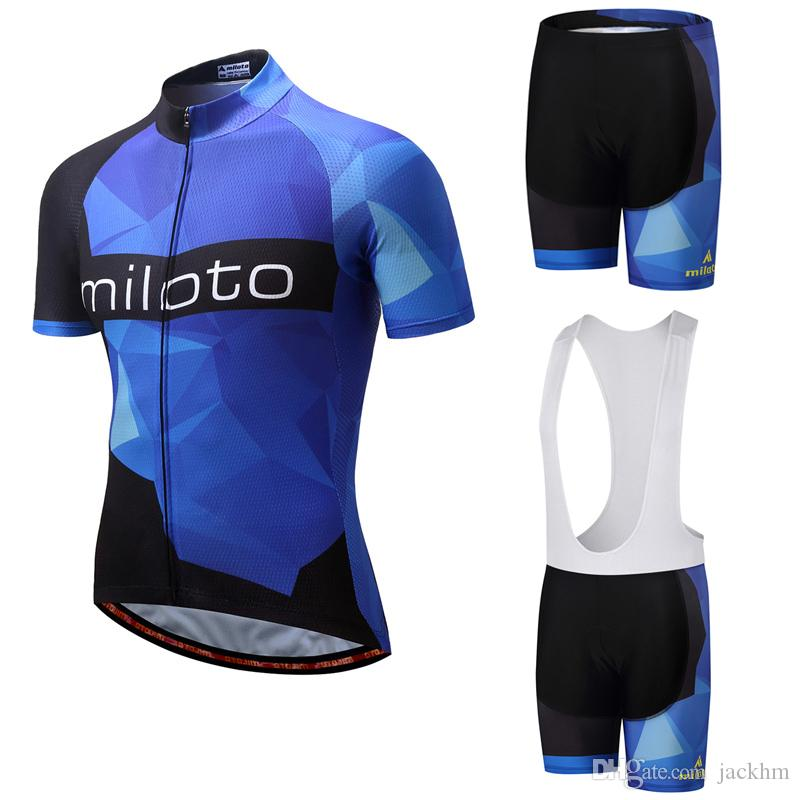 Hot Sale 2018 MILOTO Cycling Jerseys Bib Shorts Ropa Ciclismo Bike Clothing  Breathable Bicycle Sportswear Cycling Sets Cycling Short Bicycle Apparel  From ... 18b5868ac