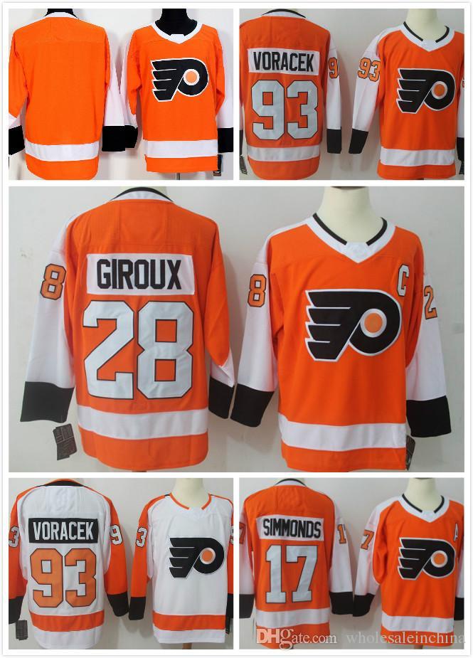 Men s Ice Hockey Philadelphia Jerseys 53 Gostisbehere 17 Simmonds 28 ... 215991dda