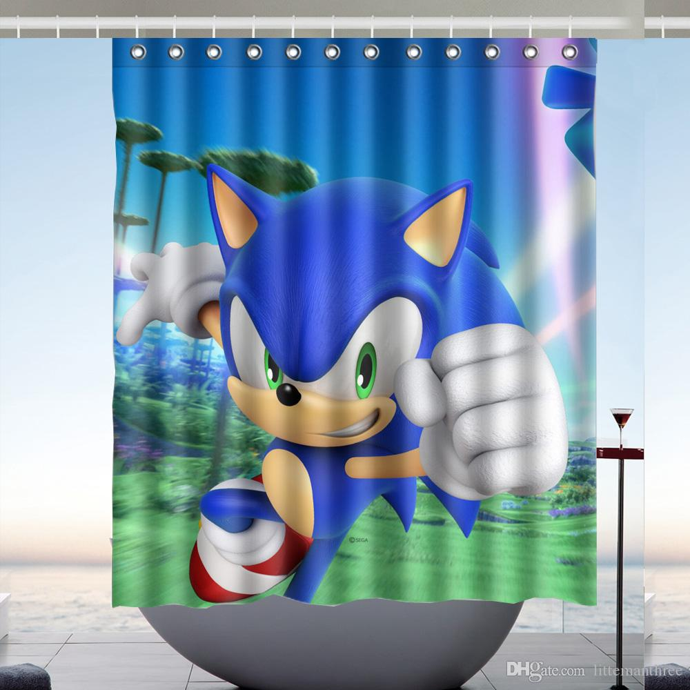 2019 Sonic The Hedgehog 03 Design Shower Curtain Size 60 X 72 Inch Custom Waterproof Polyester Fabric Bath Curtains From Littemanthree