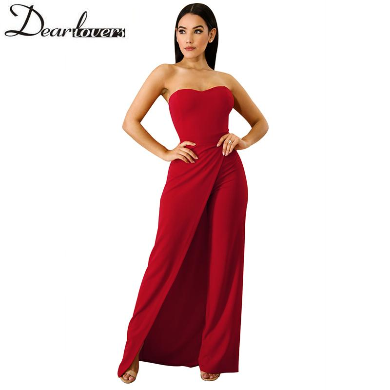 765f5e2a9067 2019 Dear Lovers White Sexy Jumpsuit Overalls For Women Elegant Asymmetric  Split Leg Strapless Jumpsuit Romper 2018 Fashion LC64377 Y1891807 From  Zhengrui07 ...