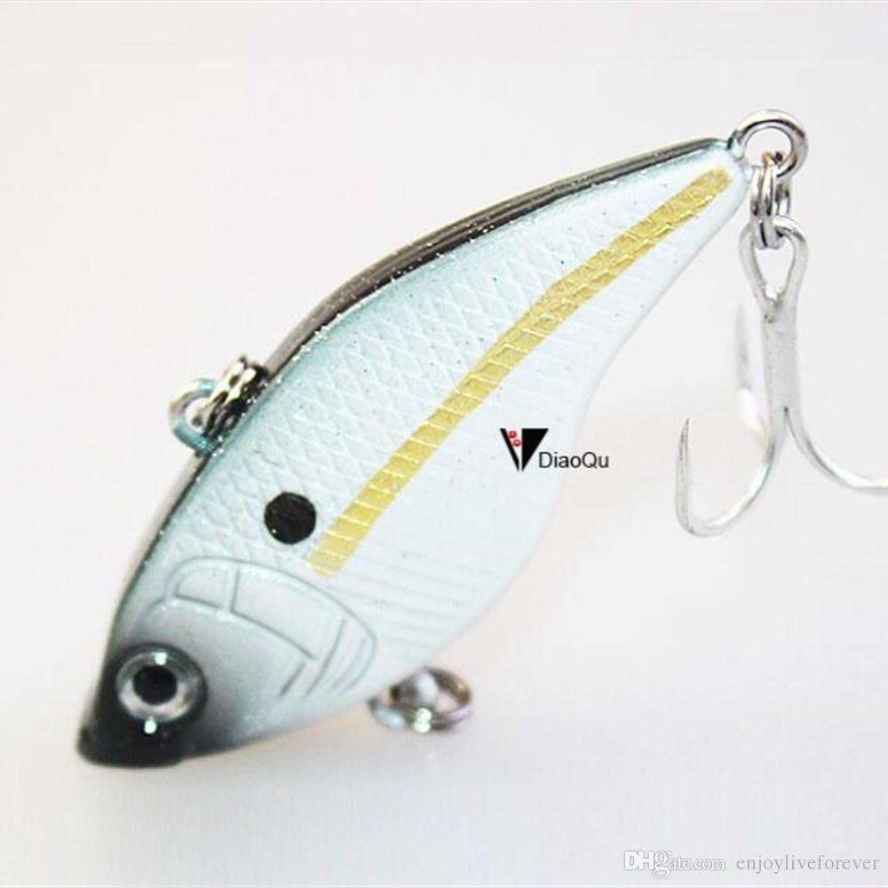 Full Swimming Layer Fishing Lure 5cm 14.5GR Vibration Fake Baits Lifelike Hard Lure with Double Treble Hook for Freshwater