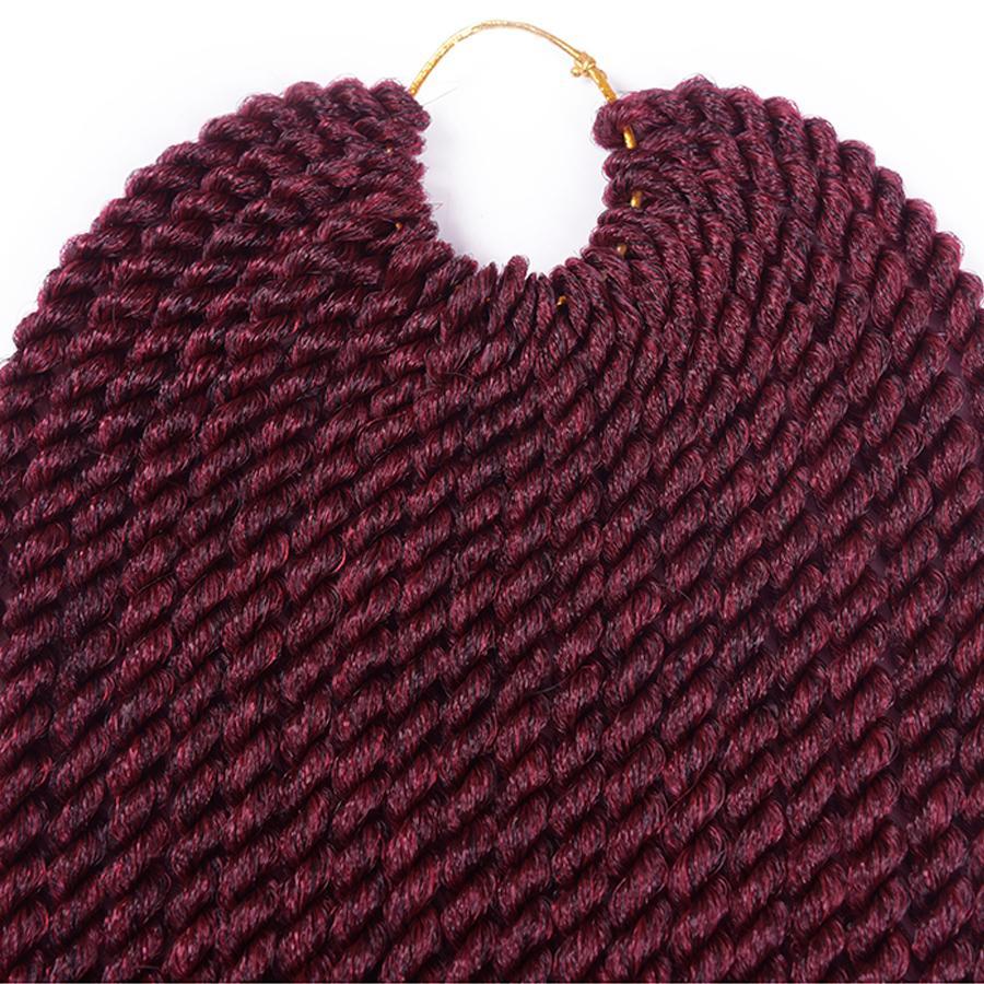 "TOMO 12""14""16""18""20""22"" Crochet Braids Senegalese Twist Hair 22Roots/Pack Ombre Synthetic Kanekalon Crochet braid Braiding Hair Extensions"