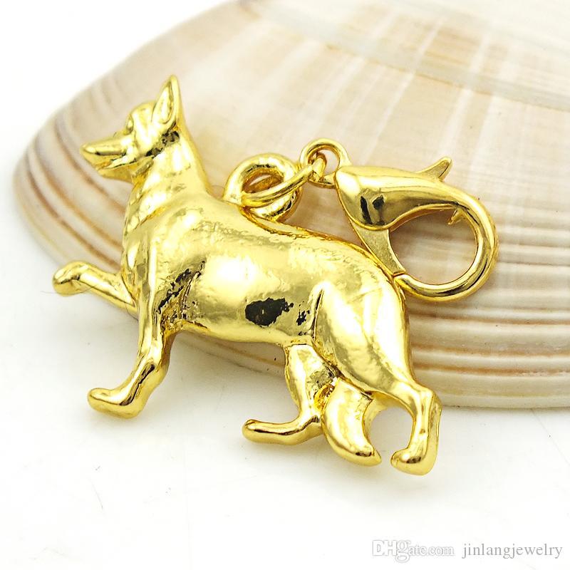 JINGLANG Alloy Dog Charm Halskette Anhänger Schmuck Handwerk Schmuck Großhandel