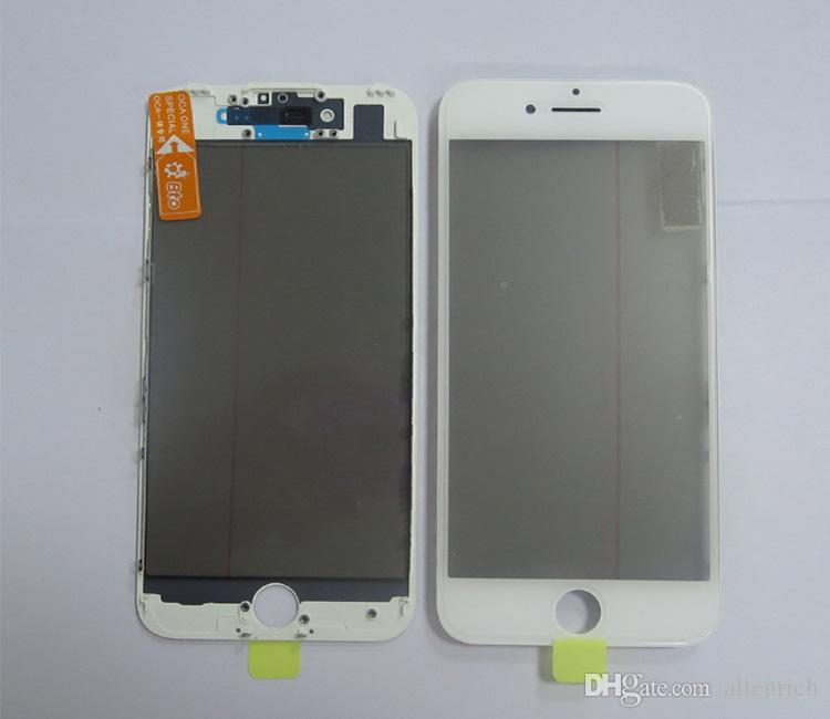 Cold Press For iPhone 7 7 Plus Front Glass Frame with OCA Polarizer Together 4 in 1 LCD Screen Outer Glass Repair Part