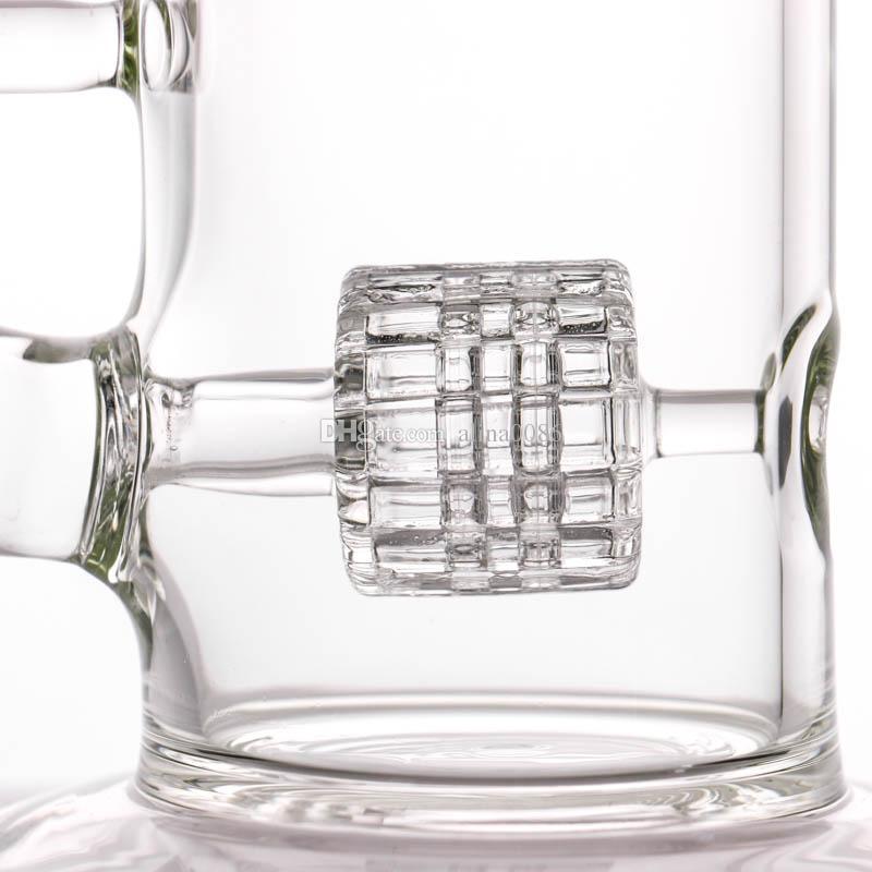 El tubo de agua de cristal vendedor caliente de Bong del panal de la fabricación con estilo del neumático y el difusor de cristal del panal Percolador de cristal Bongs