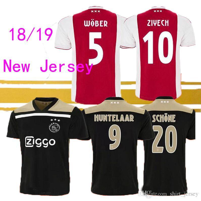 05aad1f95 2018 New 2018 19 Ajax Soccer Van De Beek Uniforms Men Shirt Home Away Football  Jersey Adult Man Neres Huntelaar Ziyech Polyester T Gift From Shirt jersey