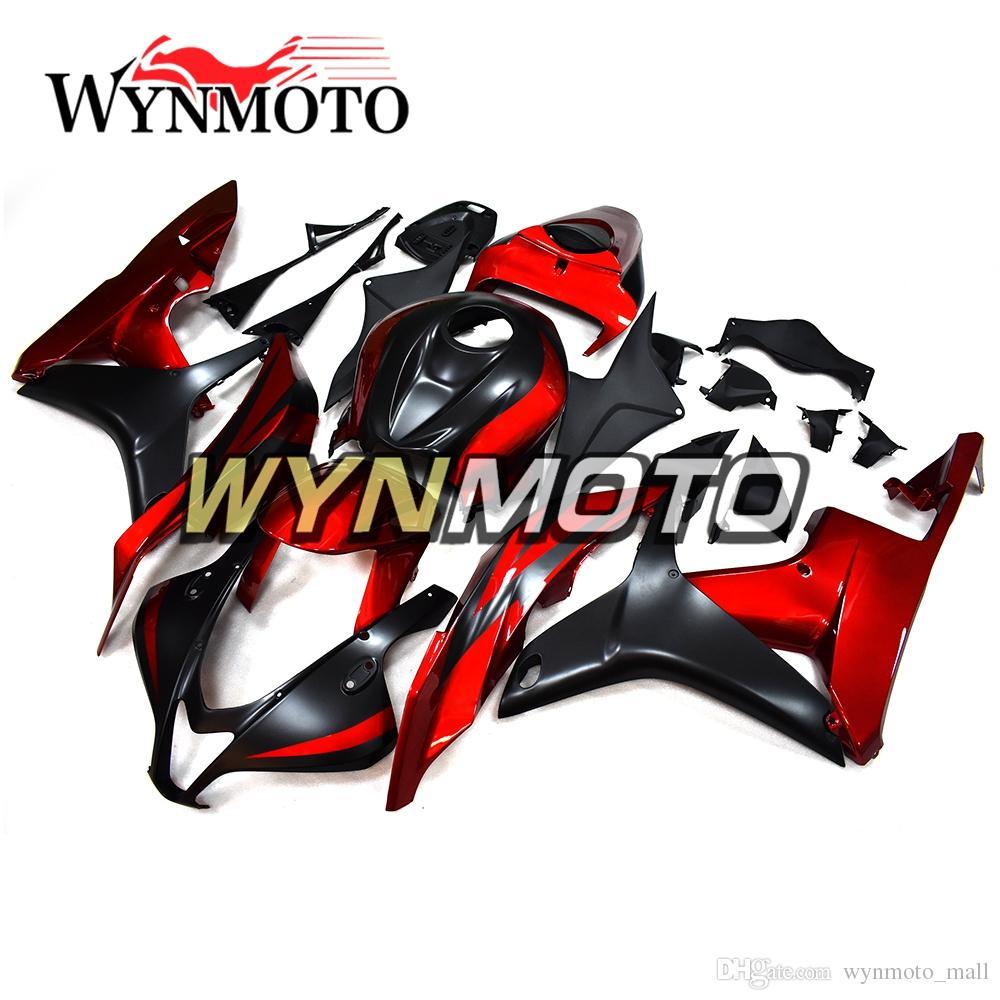 Bodywork For Honda Cbr600rr F5 Year 2007 2008 07 08 Black Red