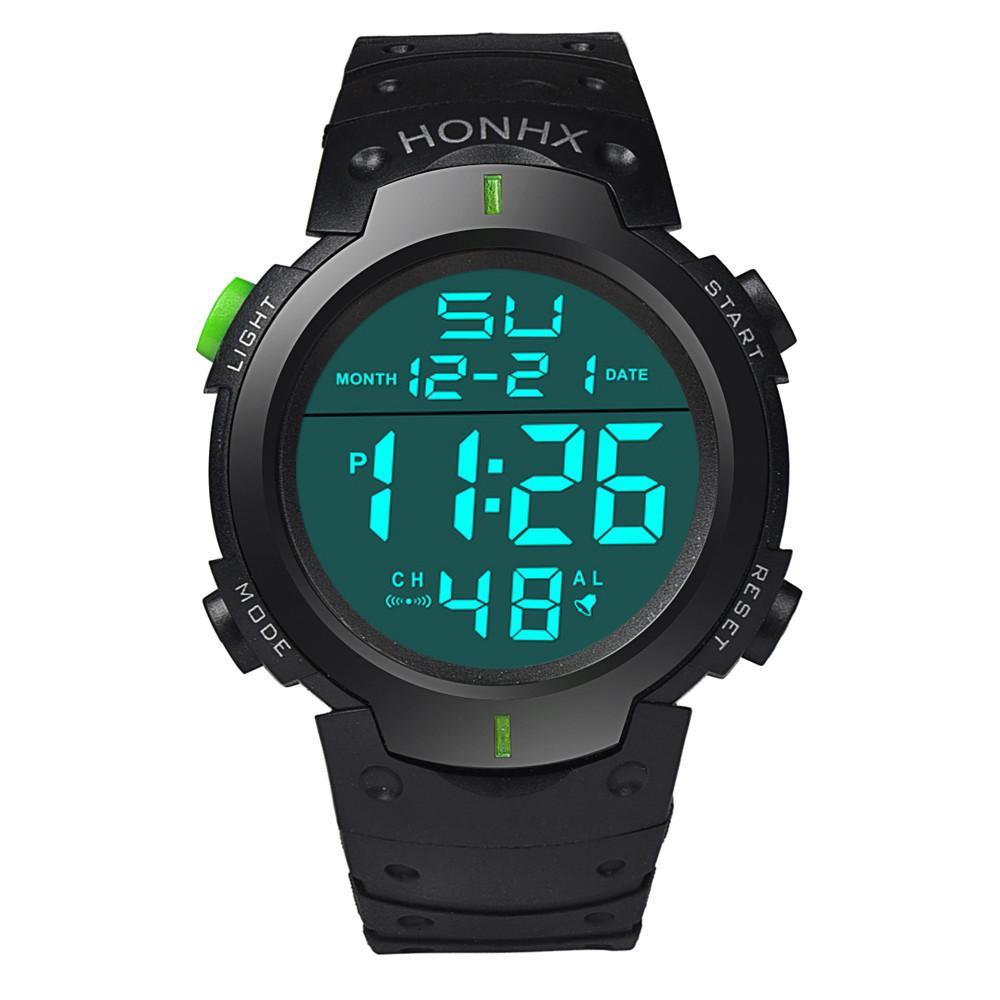 aba82150580 OTOKY Fashion Sport Waterproof Men S Boy LCD Digital Stopwatch Date Rubber Sport  Watch Luminous Wrist Watch Luxury Brand2018 Black Watches Wholesale Watches  ...