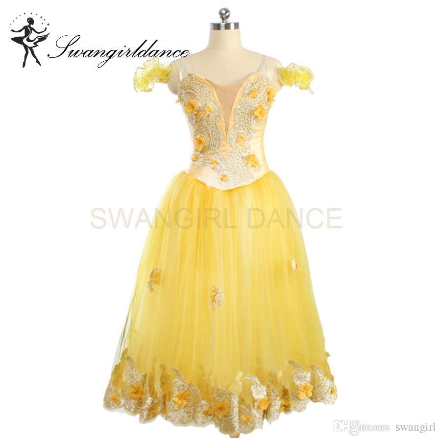 Großhandel Frauen Romantische Sugar Plum Fairy Gelb Ballett Tutu Langes  Kleid Röcke Erwachsene Professionelle Bühne Ballerina Tutu Kleid Mädchen