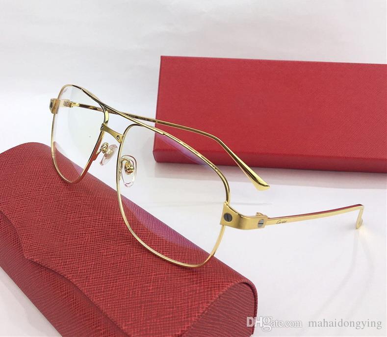 b0a26bfda3790 Compre Gafas De Sol Cuadradas Para Mujer   Hombre Gafas De Sol Doradas Con Montura  Dorada   Marco Dorado GAFAS DE SOL MARCA DE MODA Con Estuche Original ...