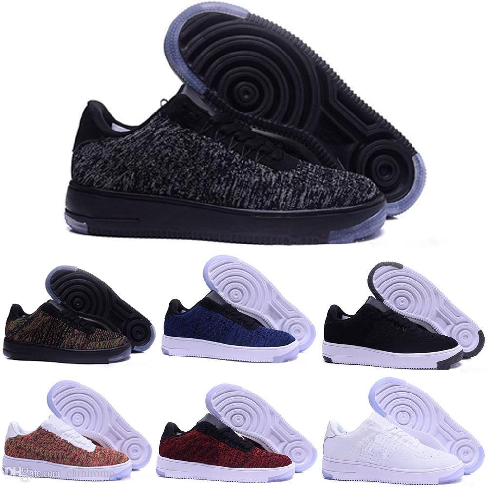 buy popular 5dd3a 9fa06 Acheter 2017 Nike Air Force Oen 1 Flyknit One Af1 Flyknit Mode Hommes  Chaussures Faible One 1 Hommes Femmes Chine Chaussure Décontractée Design  Designer ...