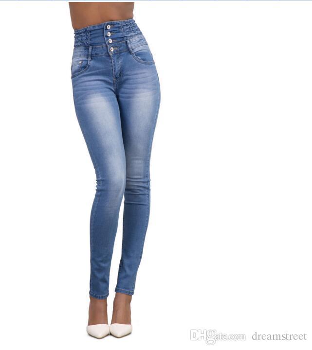 Новая мода Женская мотоцикл байкер Zip середине высокой талией стрейч джинсовые узкие брюки мотор джинсы для женщин