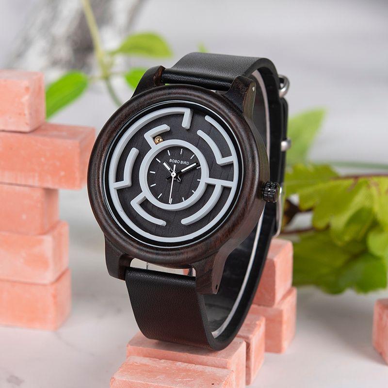 1af91ac7a958 Compre BOBO BIRD Relojes Para Hombre Marca De Lujo De Lujo Relojes De  Pulsera De Cuarzo Reloj De Pulsera De Bambú Con Correa De Cuero En Relieve  De Caja De ...