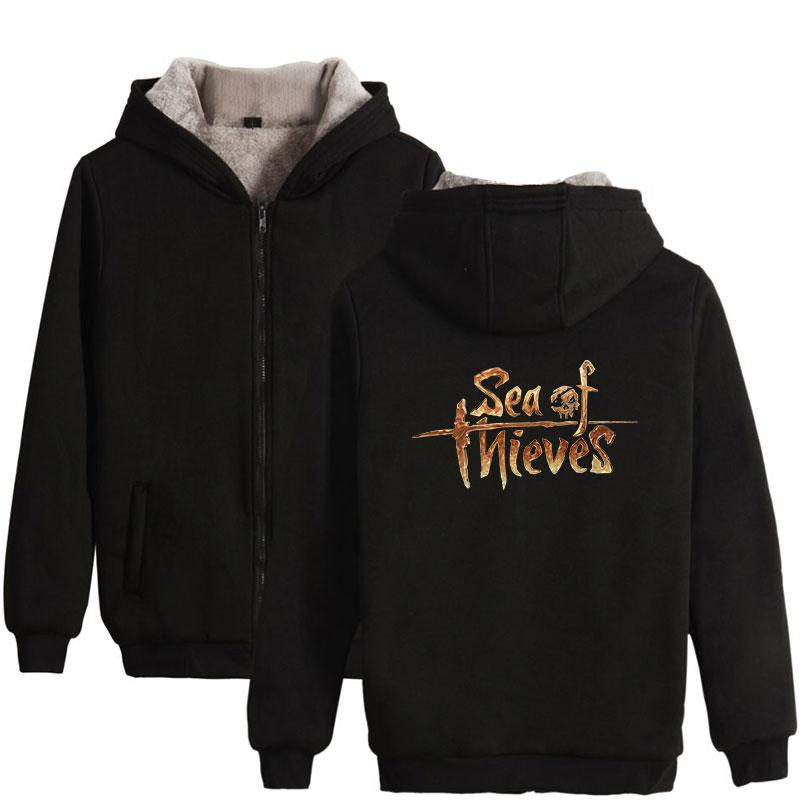 Sea of Thieves Casual Dress Clothing Men Women Risk Funny Games Style  Zipper Thick Warm Hoodie Sweatshirt With Hat High Quality