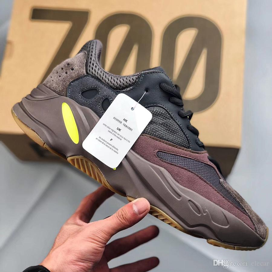 3M Mauve 700 wave runner designer shoes Kanye west 700 mauve running shoes mens womens 2019 new fashion boots with original box