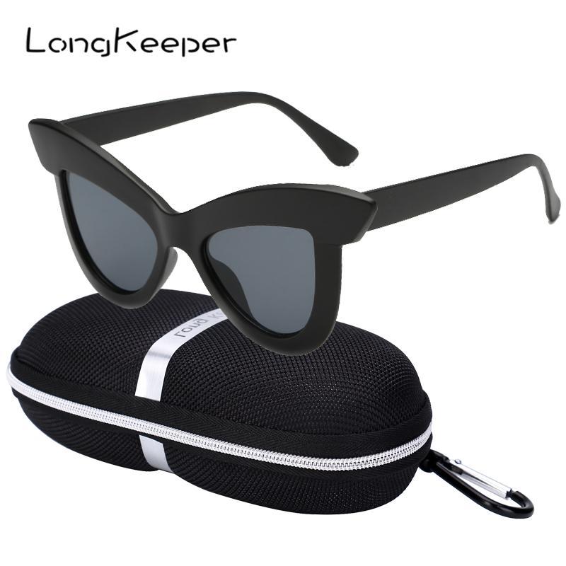 20f3c3e0d5 LongKeeper 2019 Cat Eye Sunglasses With Case Women Mirror Sexy Black Sun Glasses  Ladies Brand Designer UV400 Goggles With Box Sunglasses For Women Cat Eye  ...