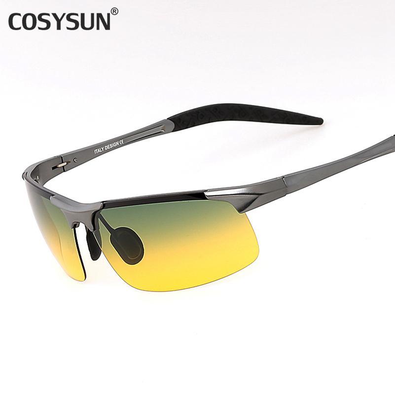 eb6947f09c9 2018 Day   Night Vision HD Driving Polarized Sunglasses Men s Driving  Glasses Anti Glare Aluminum Magnesium Alloy Glasses 817 Fastrack Sunglasses  Smith ...