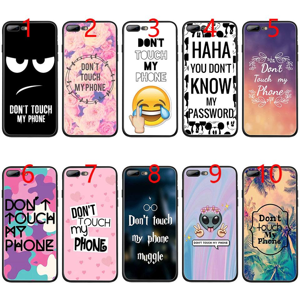 best website eabc7 e593d Don t touch my phone Soft Black TPU Phone Case for iPhone XS Max XR 6 6s 7  8 Plus 5 5s SE Cover