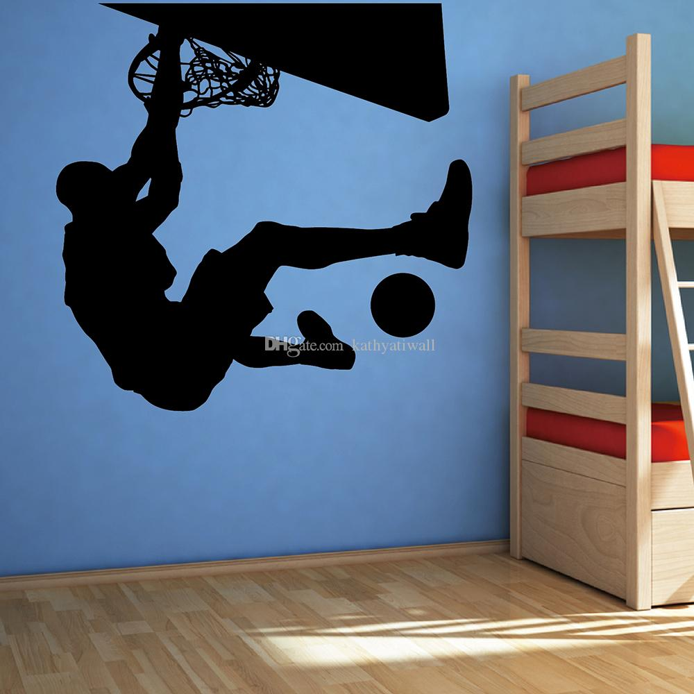 Dunking Wall Sticker Basketball Wall Decal Removable Boys Room Wall  Decoration Sports High Quality Cut Vinyl M66 Make Your Own Wall Decals Make  Your Own ...