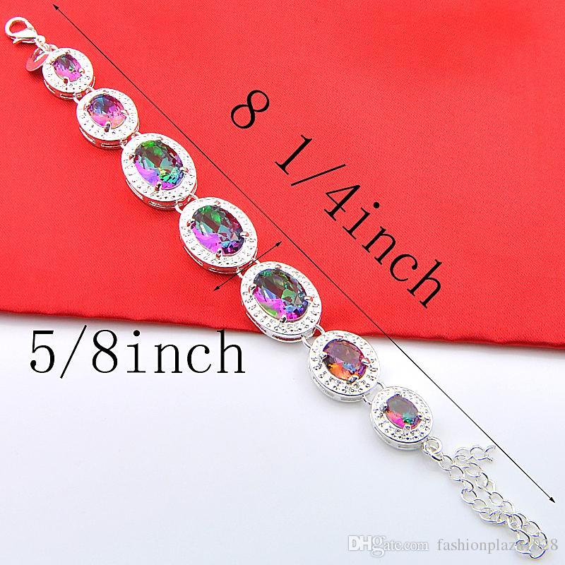 luckyshine Fashion Best Seller 925 Sterling Silver جولة الصوفي توباز الأحجار الكريمة أساور الإسورة اليد سلسال h535