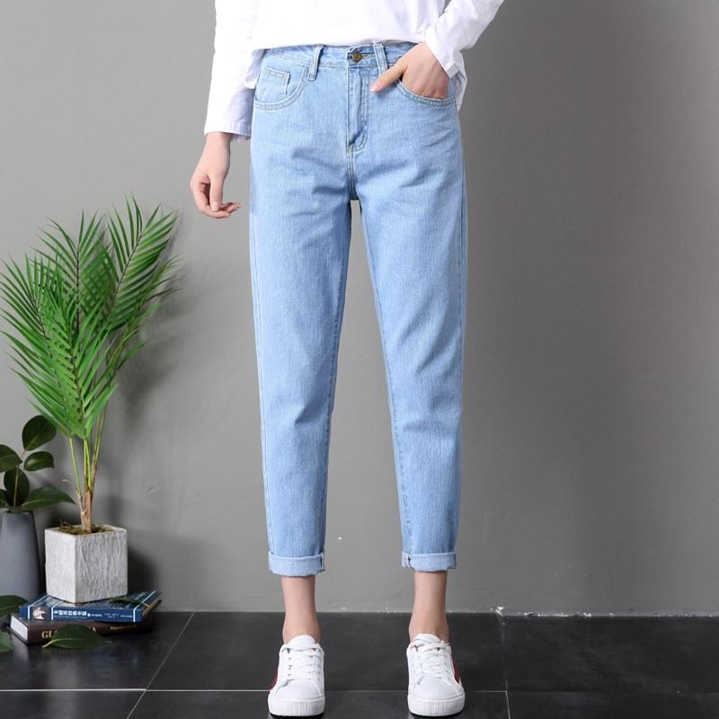 631f2dd3543 2019 2018 Ladies High Waist Mom Female Boyfriend Jeans For Women Trousers  Denim Pencil Pants Ripped Jeans Woman Straight Mujer Femme From Caijj8283,  ...