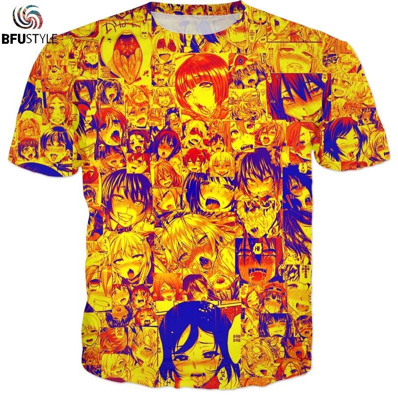 Compre Ahegao Hentai Camiseta T Shirt Hombres Mujeres 2018 Nueva Moda Hip  Hop Streetwear Summer Tops Tees 3D Divertido Gráfico Anime Tshirt A  32.98  Del ... 138653e0ad7
