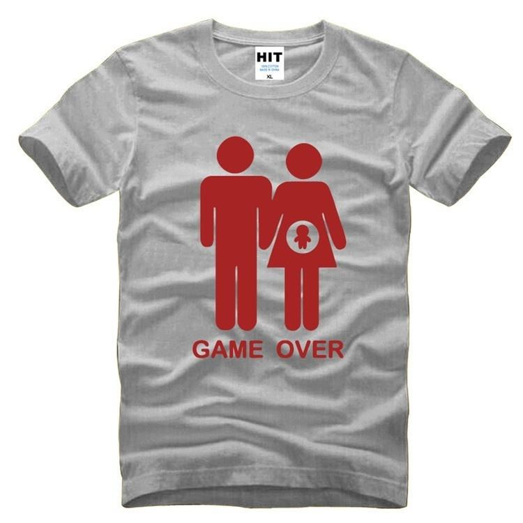 Game over baby shower invitation funny novelty mens men t shirt t game over baby shower invitation funny novelty mens men t shirt t shirt 2018 new short sleeve o neck cotton tshirt tee t shirts deals super cool t shirts filmwisefo
