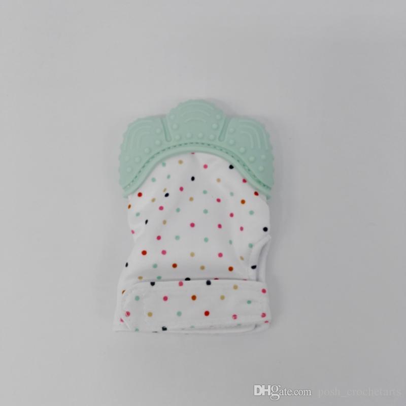 Gants de dentition bébé en silicone de qualité alimentaire babe, main de dentition