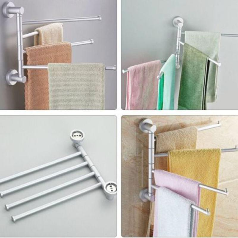 2018 Aluminum Swivel Towel Bar Rotating Towel Rack 4 Bar Bathroom Kitchen  Rack Rod Holder Wall Mounted Polishing Hanger From Sophine12, $20.61 |  Dhgate.Com