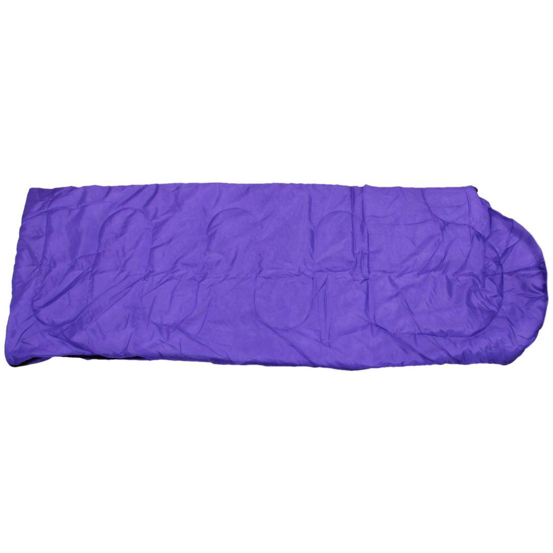 promo code 5d1a1 45118 Adult Single Camping Waterproof Suit Case Envelope Sleeping Bag Purple