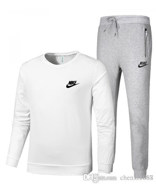 296791d0eaa1 2019 NIKE 2019 Tracksuit Clothing Men S Hoodies Set Letter Print Casual Long  Sleeve Sport Suit Costumes Sweatshirt+Pants From Chenxi1888