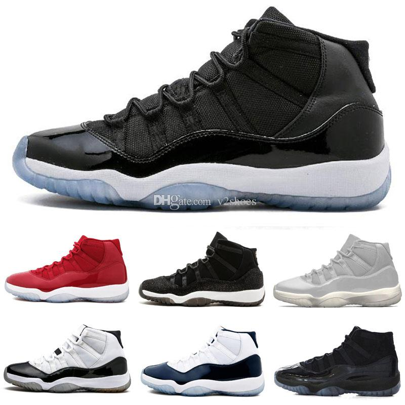 Cap and Gown 11 Prom Night 11s XI Gym Red Concord 45 PRM Heiress hombres mujeres Zapatos de baloncesto Cool Grey sports Sneaker 36-47