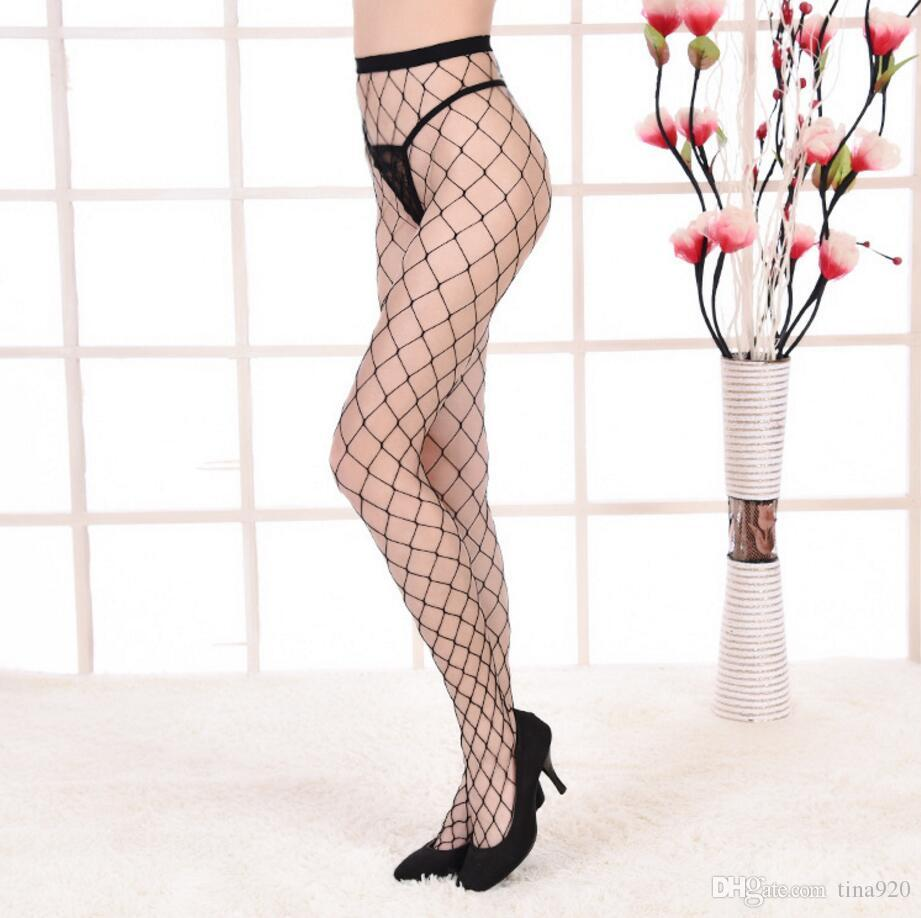 Sexy Thigh High with Lace Top Stockings Christmas Pantyhose Fishnet Stockings Hollow Net Pantyhose Stocking Red Black White Sale top new